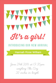 birth announcement templates baby girl birth announcements template rome fontanacountryinn com