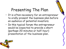 Presenting Business Plan Investors How To Present A Business Plan
