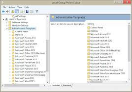 Office 2013 Word Templates Use Group Policy Admx Files In Windows 7 Or 8 Non Domain Computers
