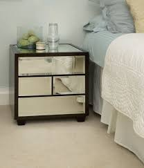 contemporary bedside furniture. Bedroom Design: Awesome Lombard Beveled Mirror Bedside Table Design - Tables Contemporary Furniture B