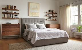 avery bedroom with float wall shelves