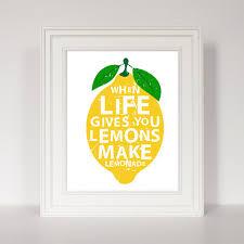 lemon canvas wall art