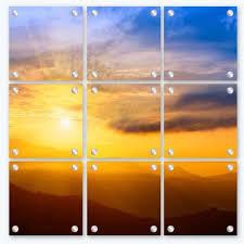 glass photo prints split image glass print
