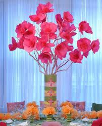 Tissue Paper Flower Ideas A Tissue Paper Flower Centerpiece Wedding Event Party