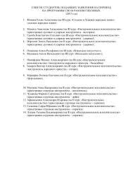 Контрольно оценочные материалы Дисциплина Литература Контрольно оценочные материалы Дисциплина Литература СПИСОК СТУДЕНТОВ ПОДАВШИХ ЗАЯВЛЕНИЯ НА ПЕРЕВОД