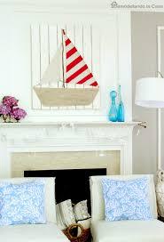 diy sailboat on wood wall decor