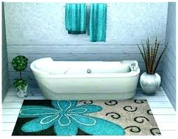 gray and yellow bathroom rug sets blue rugs light grey bath mats most round unthinkable sea