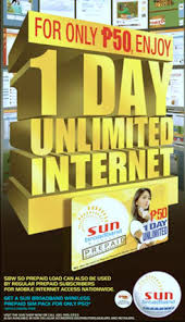 Sun 1-Day Unlimited Internet for Php50 - YugaTech | Philippines ...