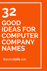 33 Good Ideas For Computer Company Names Cleaning Company