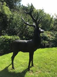 solid bronze stag sculpture lifesize
