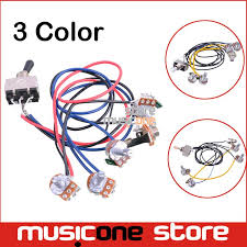 online buy wholesale gibson guitars from china gibson guitars Three Way Switch Guitar Wiring 1 set wiring harness prewired 2v2t 3 way toggle switch jack 500k pots for gibson replacement guitar three way switch wiring diagram