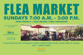 Sundays Only Calendar Flea Antique Market Hsca