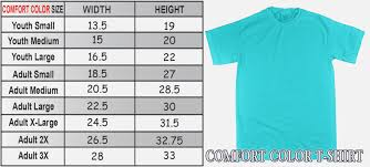 Comfort Colors Size Chart Tank Comfort Colors Long Sleeve T Shirts Color Chart Coolmine