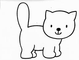 Small Picture Cat Coloring Pages Easy Coloring Pages