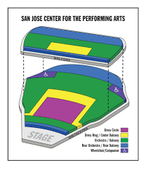 Hp Pavilion San Jose Seating Chart 3d San Jose Center For The Performing Arts Seating Chart