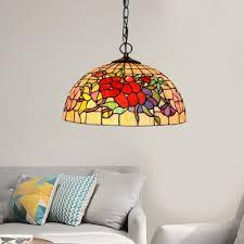 2 lights flower bird chandelier light