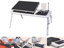 com foldable laptop table tray desk w cooling fan tablet desk stand bed sofa couch by snc office s