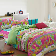 amazing hot pink mint green and white cute fruit apple print with multi apple green bedding sets ideas