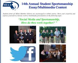 social media and sportsmanship how do they work together miaa14thcontestflyer