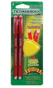 Red Checking Kurtz Bros Ticonderoga Erasable Ball Point Pens