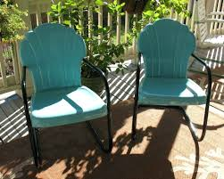 patio ideas vintage furniture cushions wrought iron replacement meadowcraft retro metal with the striking combination turquoise