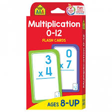 Multiplication Flash Cards 0 12 Help Develop A Solid Math Foundation