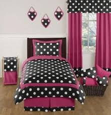 Hot Pink, Black and White Polka Dot Childrens and Teen