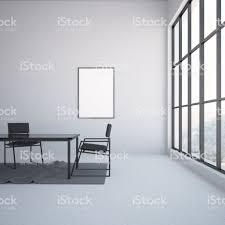 Moderne Grau Esszimmer Interieur Plakat Stockfoto Und Mehr