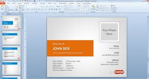 Powerpoint Resume Templates 2 The Highest Quality Powerpoint