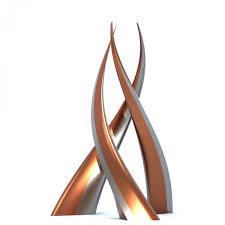 swan  contemporary modern interior design sculpture