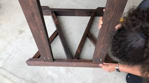 diy w trestle dining table how to