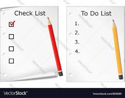 todo checklist checklist and todo list royalty free vector image