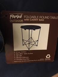 brand new parini foldable round table with carry bag for in kent wa offerup