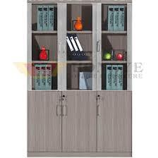 E 3 Glass Doors Modern Office Cabinet Design HYNNHW213