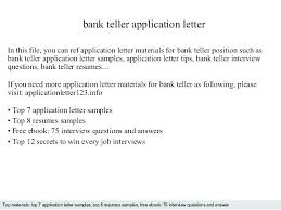 Resumes For Bank Sample Of Resume For Bank Teller Position Applying Job Resumes
