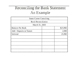 Excel Bank Statement Format Monthly Bank Reconciliation