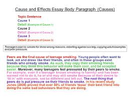 what makes one type of essay different from another ppt  peers are the final cause of teenage smoking