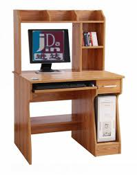wooden office computer desk with hutch