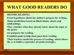 What Good Readers Do Chart Reading Skills