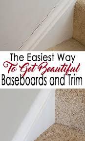 crisp baseboardolding make a wall paint shine repairing and caulking baseboards doesn