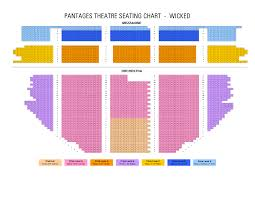 Pantages Theater Seating Chart Wicked Pantages Seating Chart Related Keywords Suggestions