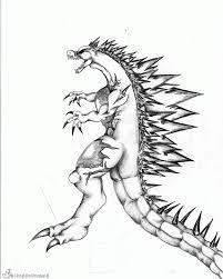 Kleurplaten Godzilla Kleurplaten Kleurplaatnl