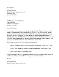 Letter Sponsorship How to Write a Letter Requesting Sponsorship with Sample Letters 2