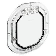 pet tek glass fitting slimline dog door clear