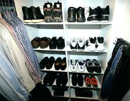 shoe rack shoes storage each section of the built in organization system is approximately mens dimensions