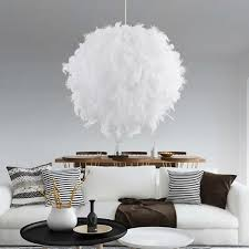 modern hanging lighting. Modern Pendant Light White Feather Lamp Romantic Dome Hanging For Kitchen Lamparas Luminaria Lighting Ceiling Lamps Lights From