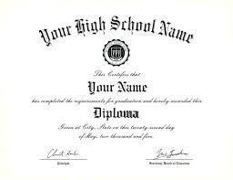 High School Diploma Certificate Template Elegant Graduation