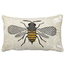 bee pillows decorative throw pillows zazzle