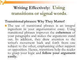 Transitional Words For Argumentative Essay Transition Word For Argumentative Essay College Paper