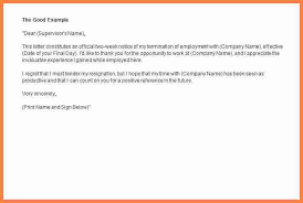 written two weeks notice 4 formal written notice notice letter